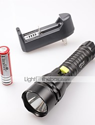 LT-87681 Waterproof 5-Mode  3x Cree XM-L2 T6 LED Flashlight   (2400Lm,1x18650,Black)