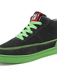 Scarpe da uomo Casual Scamosciato Sneakers alla moda Blu/Giallo/Verde/Grigio