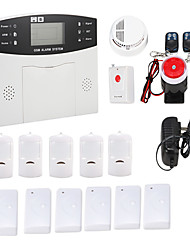Wireless GSM Home Burglar Security Fire Alarm System With Smoke Sensor Auto Dial