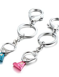 1 Pair 3D Bling Pull Tab Zinc Alloy Couple Keychain(First 10 Customers With Box Added)
