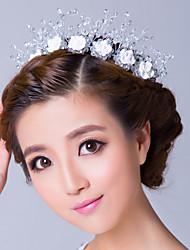 четкие циркония с белыми розами венок Свадебные головные уборы