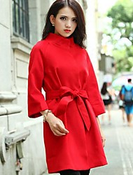 à long collier de manteau de laine de cachemire des femmes (plus de couleurs)
