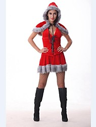 Cute Little Red Riding Hood Velvet Women Christmas Costume