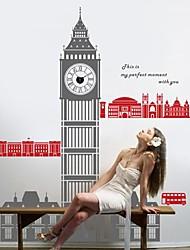 stickers muraux stickers muraux, Big Ben horloge ville murales paysage de PVC autocollants de londres moderne
