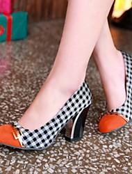 Bombas Tacones tacón grueso de las mujeres Tela / zapatos de los tacones (más colores)