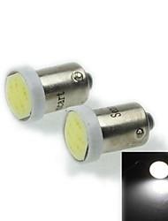 BA9S (T4W w6w) 1s 1cob 60-90lm 9000-11000k ampoule lumière blanche froide pour lampe de frein de voiture (12-16v / une paire)