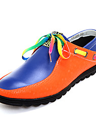 TPU Blue&Orange Casual Boots