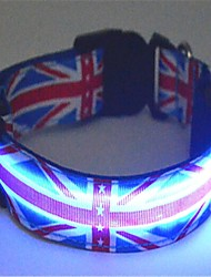 The UK Flat Style Pet Dogs Flashing Collar(Assorted Size)