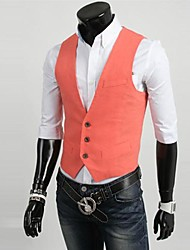 Men's Sleeveless Short Blazer Pure