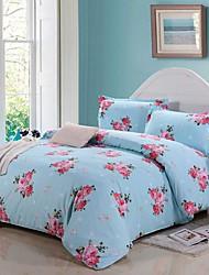 Manmer® Duvet Cover Set,4-Piece 100% Cotton Active Printing Bedding(200*230cm)