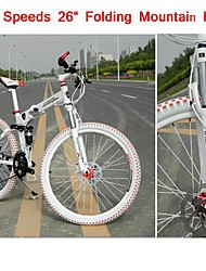 "27 Speeds SHIMANO 446 Oil Disc Brake BZ™ 26"" Mountain Bike 60 Spokes Flat Tire Folding Bicycle"