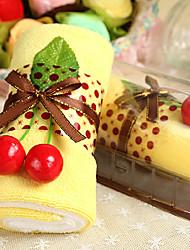 Christmas Gift Microfiber Cake Shpae Towel, Random Color