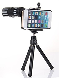 Full Metal 12x Zoom Telephoto Lens w/ TrIpod Mount + Back Case for iPhone 6