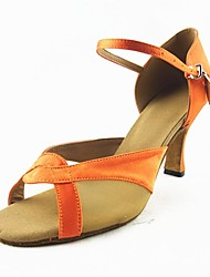 Customizable Women's Dance Shoes Latin Satin Customized Heel Other