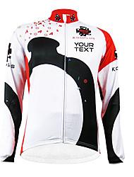 KOOPLUS Vélo/Cyclisme Maillot / Personnalisée Femme / Homme / Unisexe Manches longuesRespirable / Zip étanche / Vestimentaire / Pare-vent