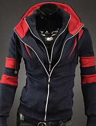 estilo coreano abrigo de color de bloqueo de los hombres manlodi