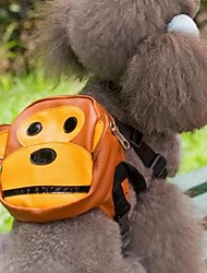 Dog Backpack Brown Dog Clothes Summer Spring/Fall Cartoon Cute