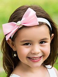 Women's Flower Girl's Satin Headpiece-Wedding Special Occasion Flowers