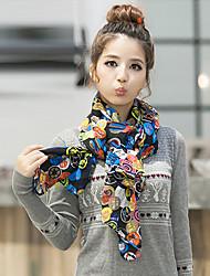 liefde citeert damesmode glimlach gezichten shawl / sjaal 160 * 70cm_1283377209