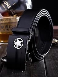 Fashion Style étoile brillante couleur pure véritable ceinture en cuir des hommes