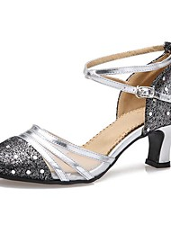 Modern Women's Low Heel Leather/Tulle with Rhinestone Dance Shoes (More Colors)