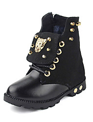 Girl's / Boy's Boots Spring / Summer / Fall / Winter Combat Boots / Fashion Boots / Comfort Leatherette Low Heel Rivet / Lace-upBlack /