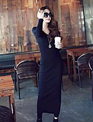 p&h Damenmode mit V-Ausschnitt sexy figurbetonten langen dress_r310-8901