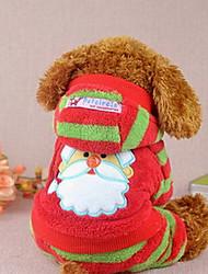 Perros Abrigos Rojo / Rosado Invierno Navidad Navidad