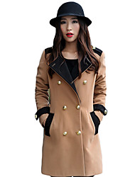 Fashion Casual Double Breast Tweed Coat