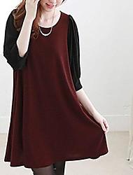 le style coréen robe de maternité col rond des femmes (plus de couleurs)