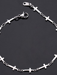 New 316L Stainless Steel Jesus Crosses Link Chain Bracelet Bangle High Quality Jewelry Gift with 316 Stamp
