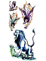 1pc Flying Lion Animal Waterproof Tattoo Sample Mold Temporary Tattoos Sticker for Body Art(18.5cm*8.5cm)