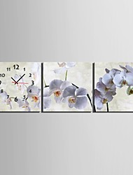 Pansy Clock in Canvas 3pcs