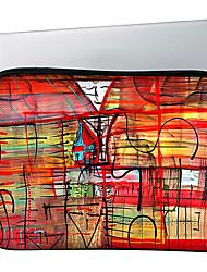 """huado® 13 """"15"""" a arte do grafite caso padrão laptop vermelho h45004"""