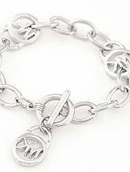 European Style Fashion Metal Personalized Letters Chain Bracelet