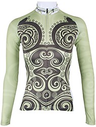 PALADIN Bike/Cycling Jersey / Tops Women's Long Sleeve Breathable / Quick Dry 100% Polyester Light Yellow XS / S / M / L / XL / XXL / XXXL