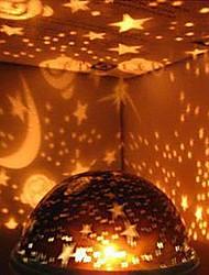 decoración de la boda del usb bricolaje cielo estrellado llevó la luz de la lámpara de proyección de la noche (colores aleatorios)