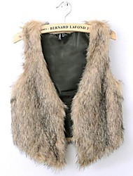 chaleco de la piel de imitación de la moda ropa de abrigo imitación de invierno de las mujeres