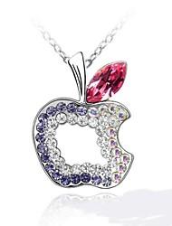 fruto da paz colar curto revestida com 18k platina verdade rosa tanzanita cristalizado strass cristal austríaco