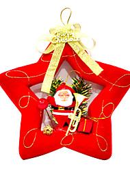 stella rossa albero di Natale decorazione