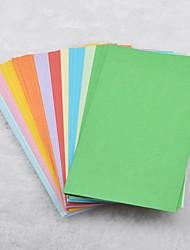 14x7cm 100 páginas de materiales de origami de color sólido