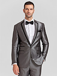 noir&polyester gris coupe près du corps en deux parties smoking