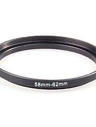 NEEWER® 58-62mm Black Metal Step-up Adapter Ring 58mm Lens to 62mm Accessory