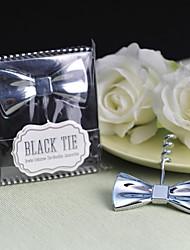 "Gift Groomsman ""Black  Tie"" Bow-Tie Corkscrew"