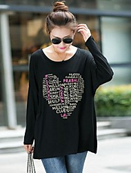 Women's  Plus Size Loose Long-Sleeved  T-Shirt(More Colors)