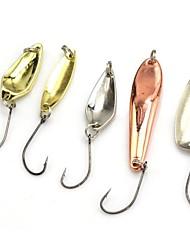 Poissons nageur/Leurre dur / leurres de pêche Poissons nageur/Leurre dur 5 pcs g / 1/6 Once mm pouce Violet Métal Pêche d'appât