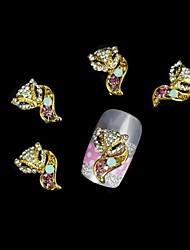 10pcs goldenen Fuchs mit Schönheit Schwanz diy Legierung Zubehör Nagelkunstdekoration