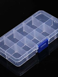 Plastic Nail Art Tip Storage Box Case Tool