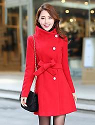 grueso cinturón delgado largo abrigo de las mujeres (más colores)