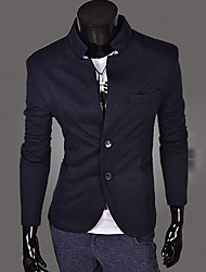 WANT Men's Long Sleeve Slim Stand Collar Suit Blazer